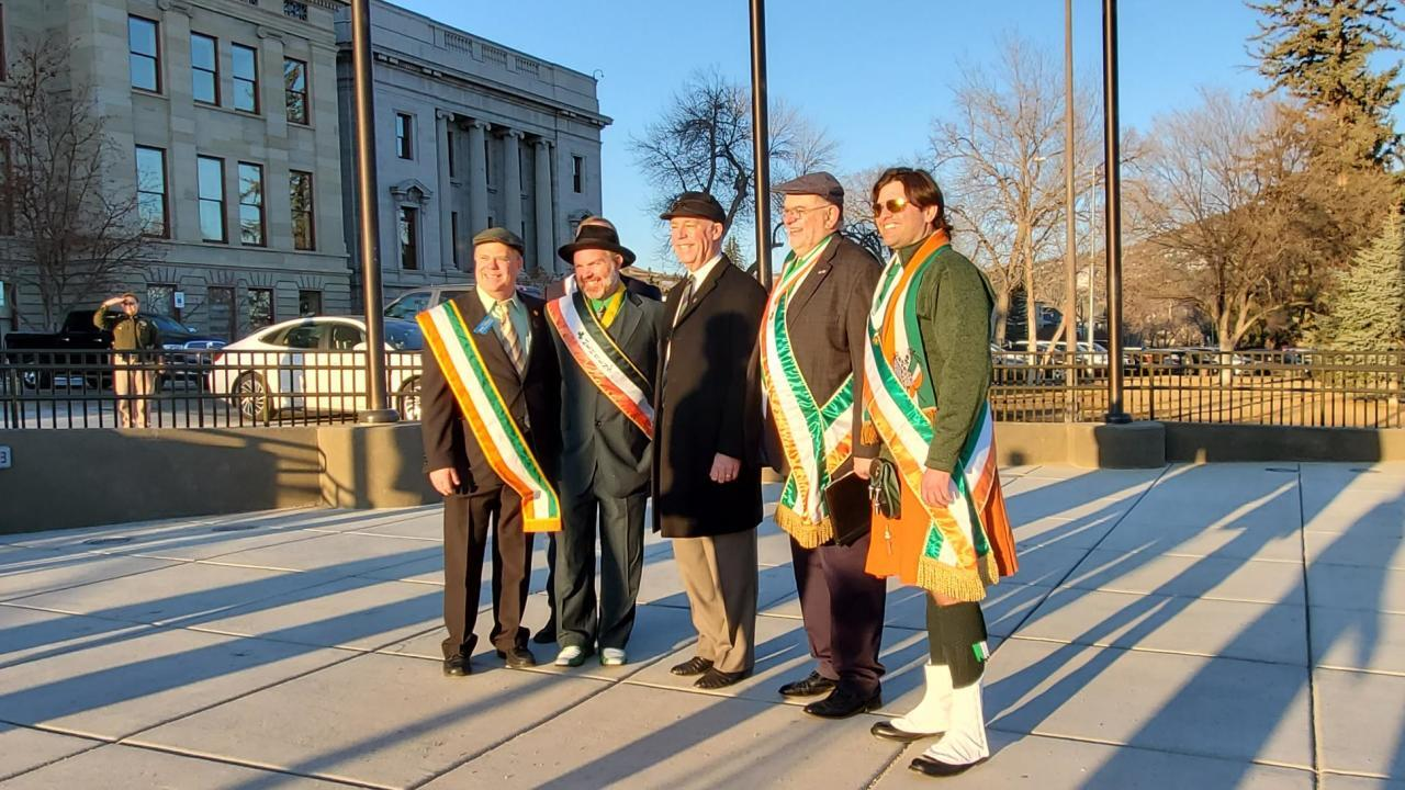 Governor Gianforte issued a proclamation declaring March 17th as Irish Heritage Day.
