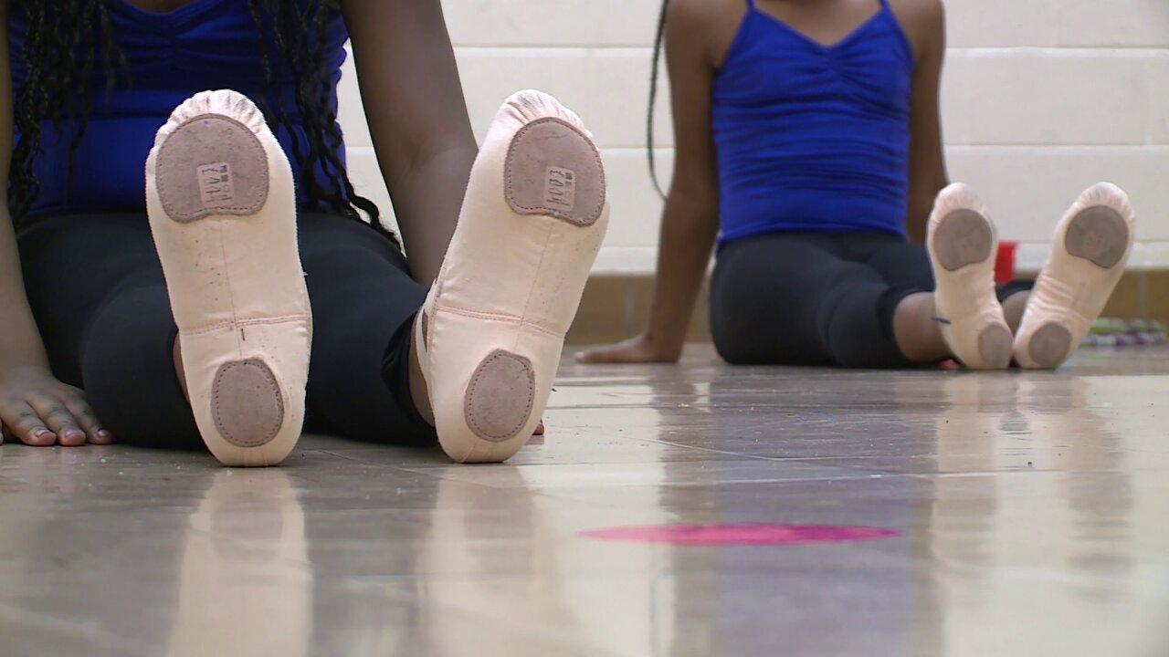 Teen People Taking Action award winner gifts ballet students with newgear