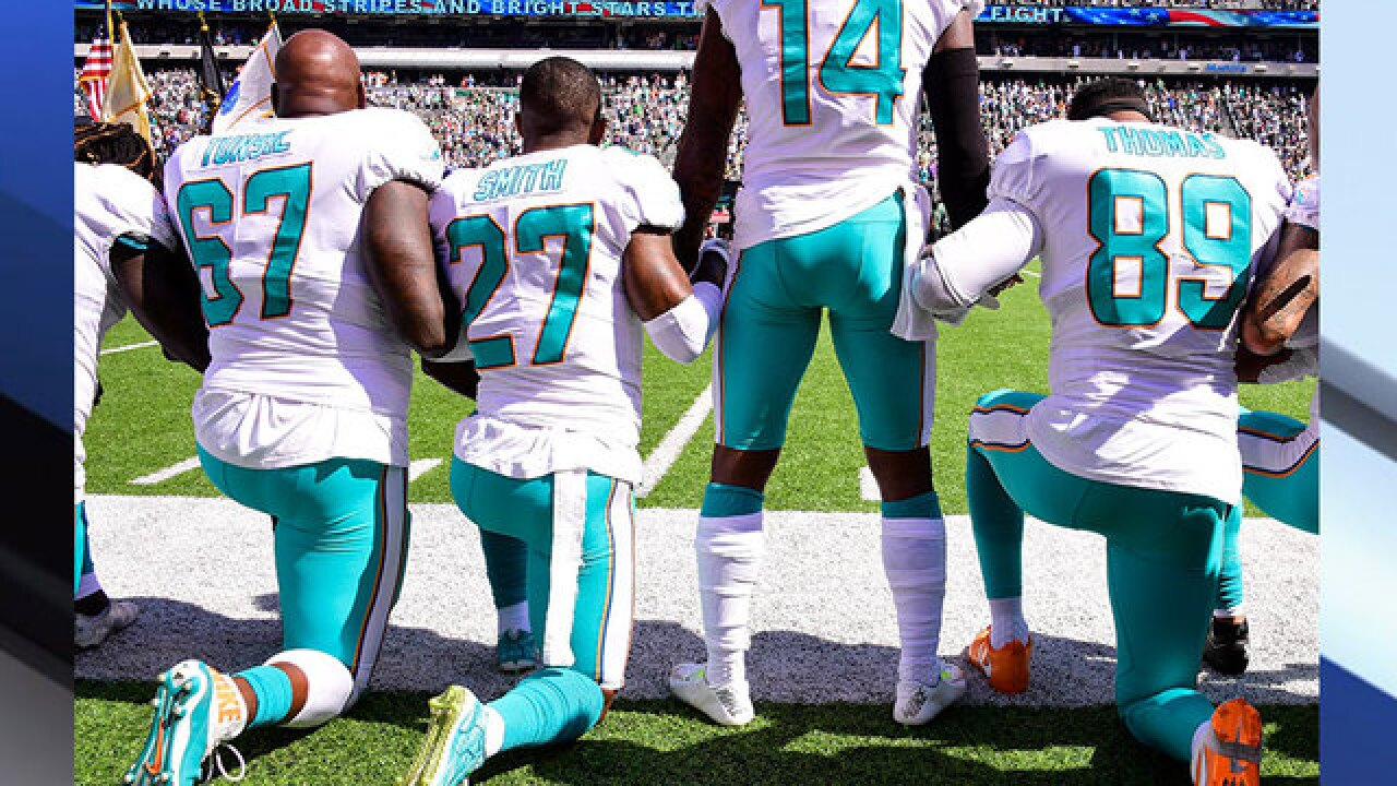 Miami Dolphins to discipline players who protest during national anthem with suspensions, fines