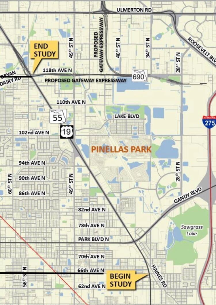 pinellas park map