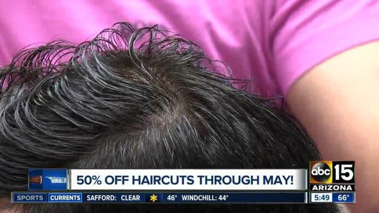 Get half off haircuts from prom!