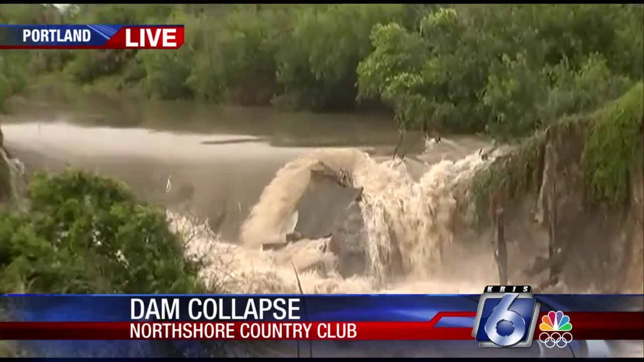 A dam collapsed Wednesday afternoon at the Northshore Country Club