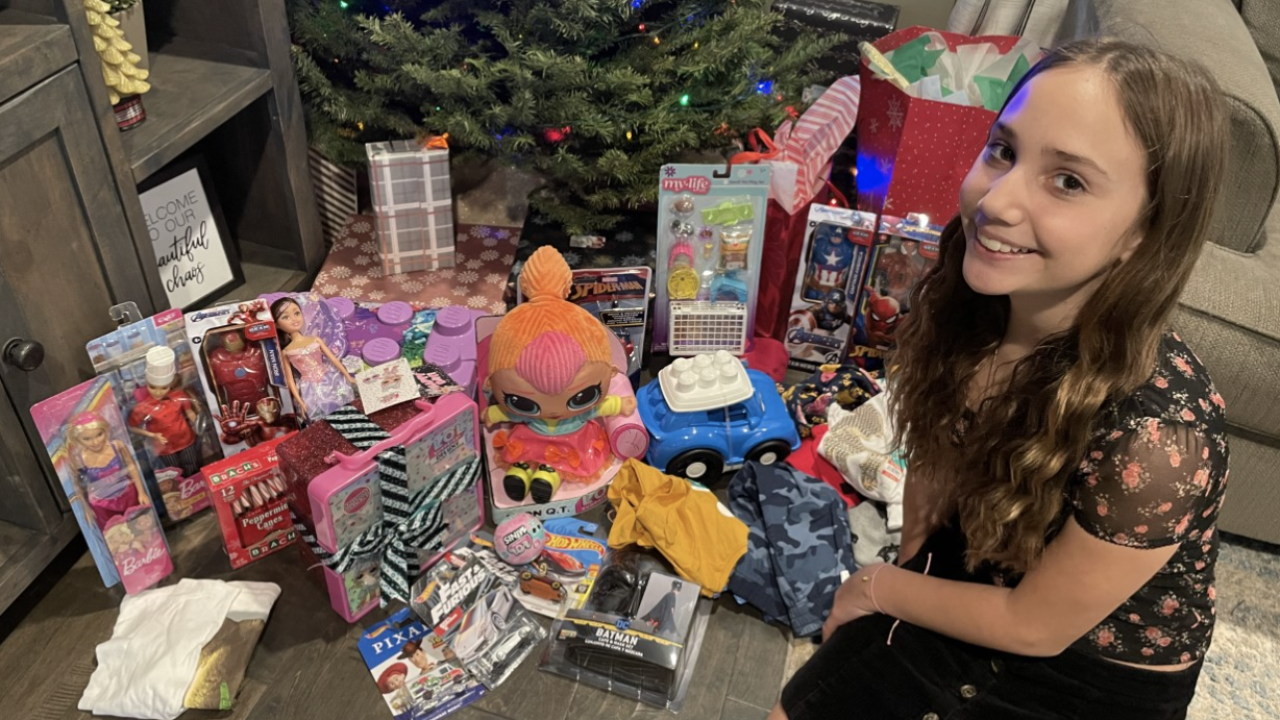 Season of Hope: 11-year-old girl spends savings to buy holiday gifts for kids