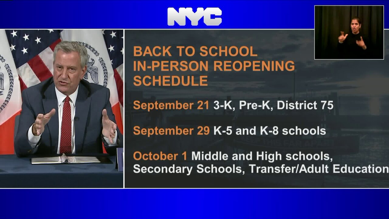 NYC Schools schedule