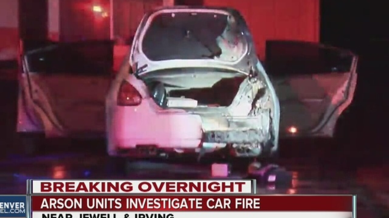 Man says his car was set on fire in SW Denver