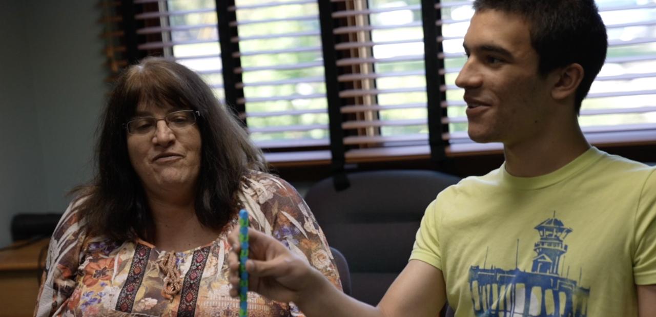 Dominic Blatnik and his mom Cathy