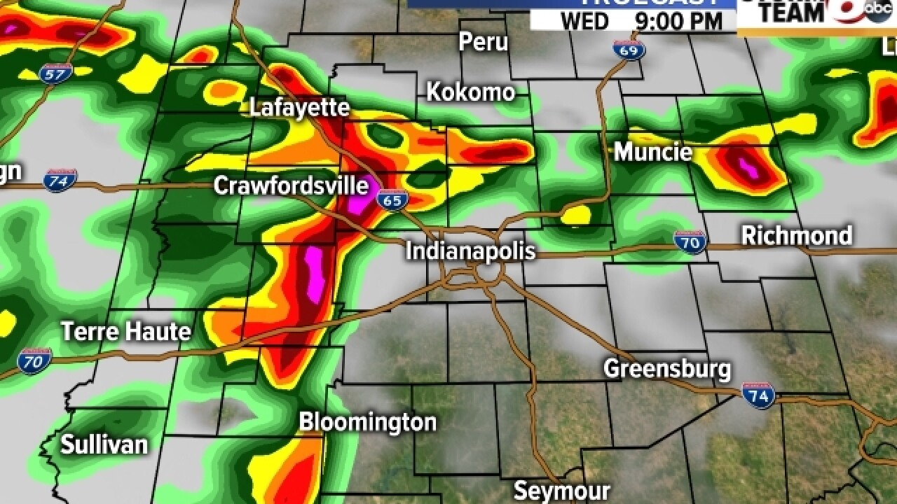 TIMELINE: Severe weather headed our way