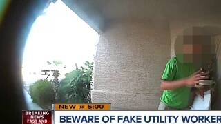 Beware of fake utility workers