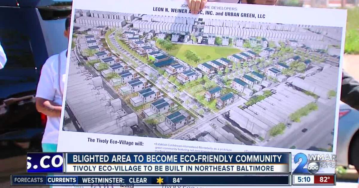 Blighted area in Northeast Baltimore to become eco-friendly community