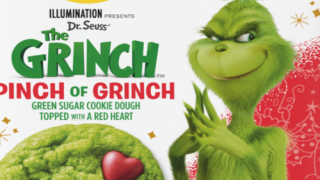 This 'Pinch Of Grinch' Cookie Dough Is Green With A Red Heart