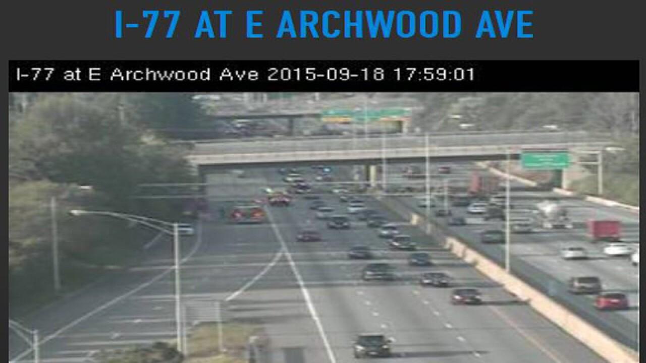 Interstate 77 back open after 20 gal. fuel leak