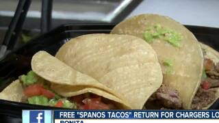 San Diego restaurant giving away tacos for Chargers' losses again
