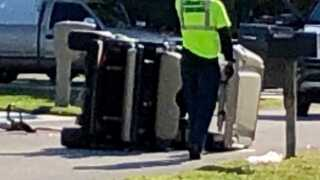 Two hit in golf cart in North Fort Myers