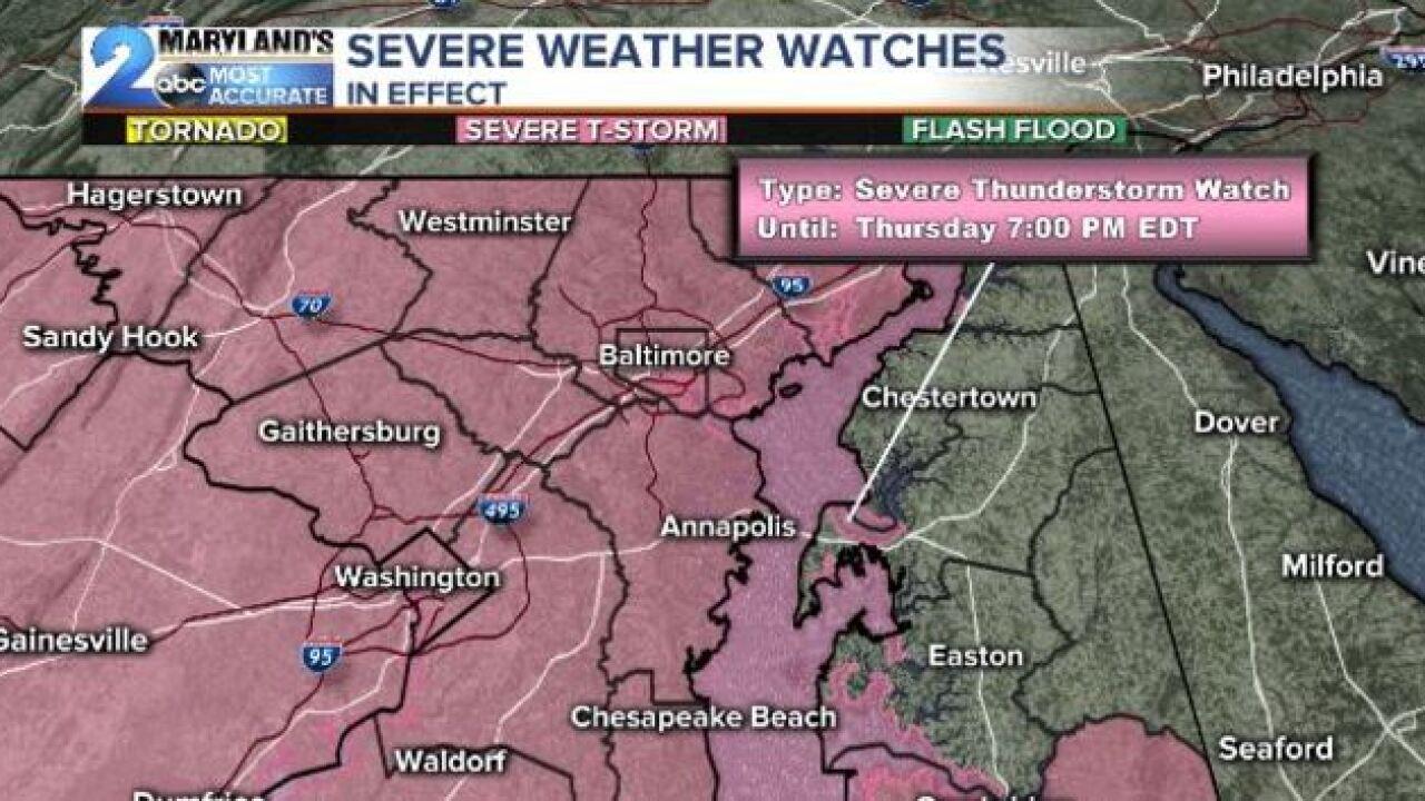 Severe T-Storm Watch Until 7pm