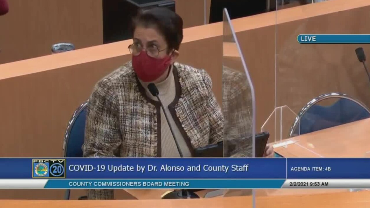 Palm Beach County health director Dr. Alina Alonso gives an update on the COVID-19 pandemic on Feb. 2, 2021.jpg