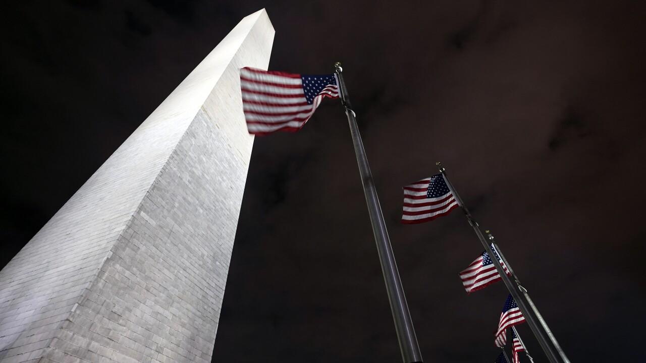 Virus Outbreak Washington Monument