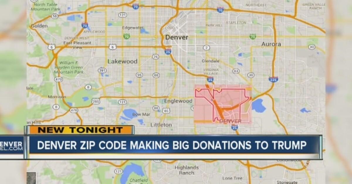 Denver zip code in top 10 for Trump donations