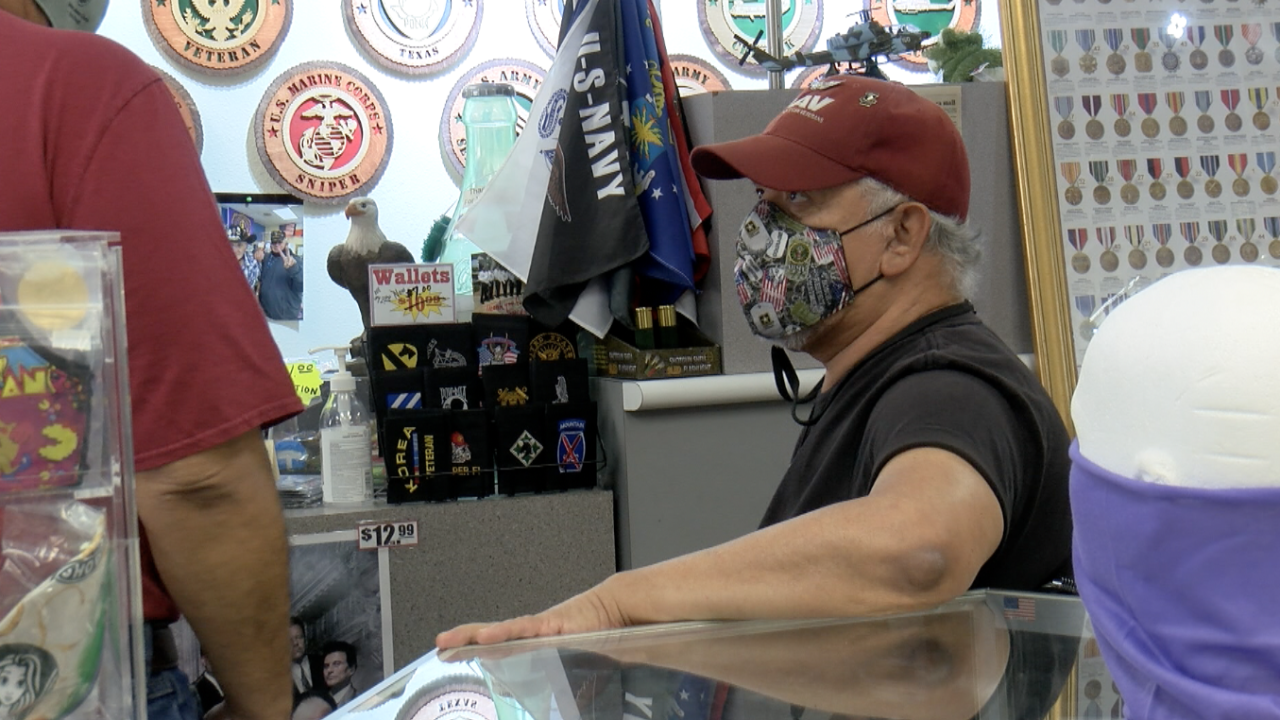 War & Peace Limited store owner Noe Bocanegra encourage visitors to stop by