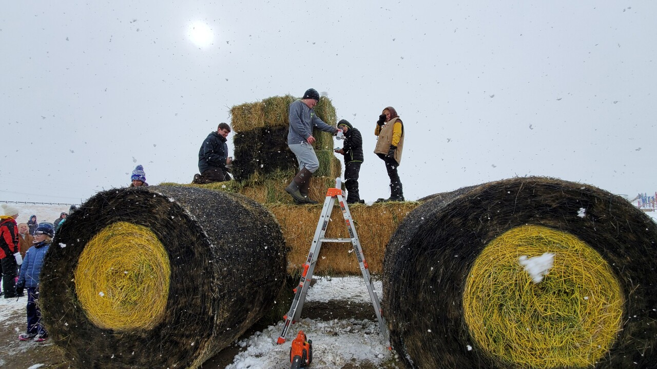 Big Sky 4-H Club participate in annual hay bale competition for the first time