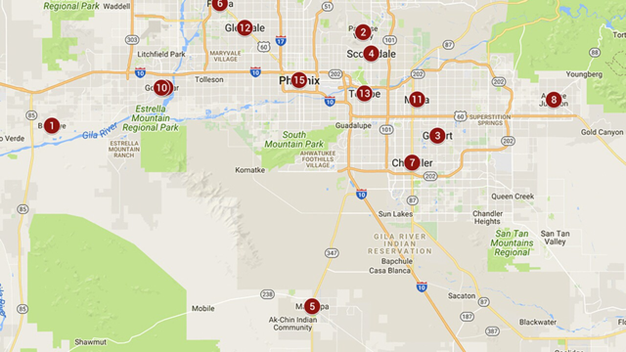 Traffic Map Phoenix Az.Safest Cities In Phoenix Metro See Which Have Lowest Crime Rates
