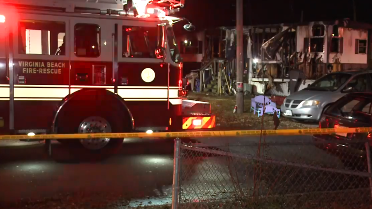 Three children in hospital after Virginia Beach mobile home fire