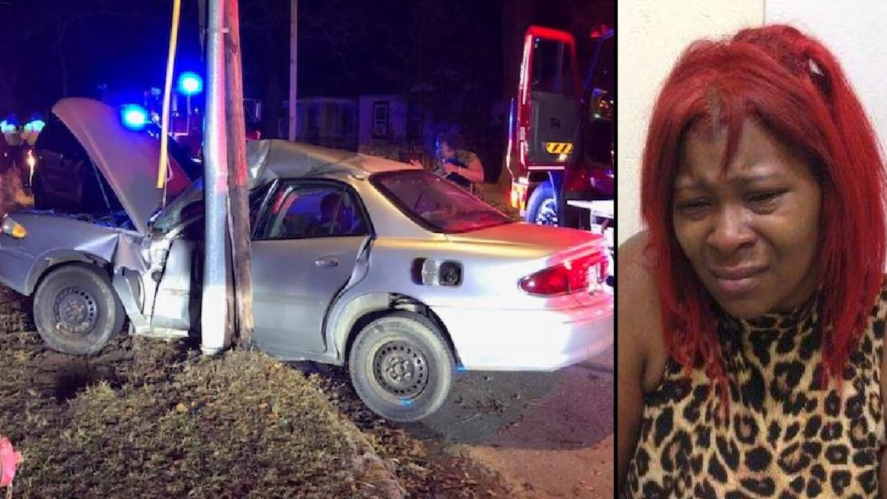 Woman tries to run over victims rams patrol car