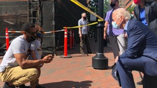 Joe Biden visits protest site in Delaware