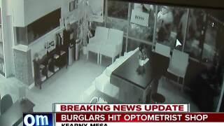 Thieves steal high-end glasses