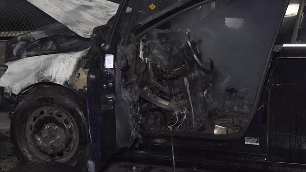 car bursts  flames  crash     chula vista