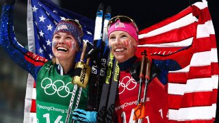 American cross-country skiers capture gold in women's team sprint