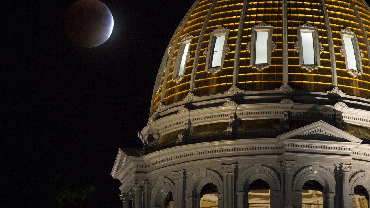 Supermoon Eclipse Visible In Skies Over Denver