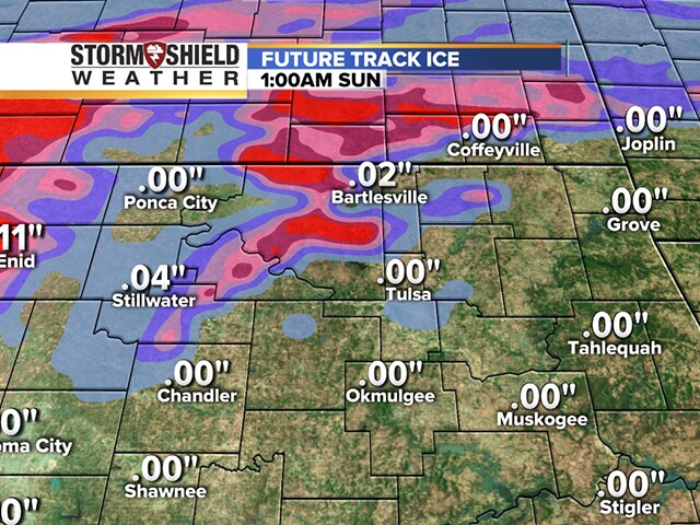TIMELINE: How much ice is expected overnight in Tulsa and northeast Oklahoma?