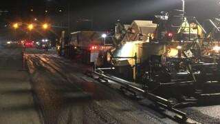 Road work being performed on US Highway 93 in Stevensville (MDT photo)