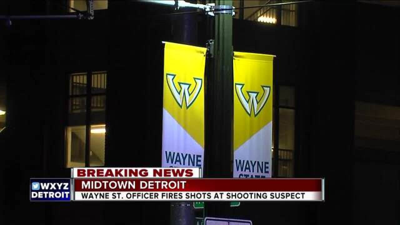 WSU officer fires shots at suspect during chase
