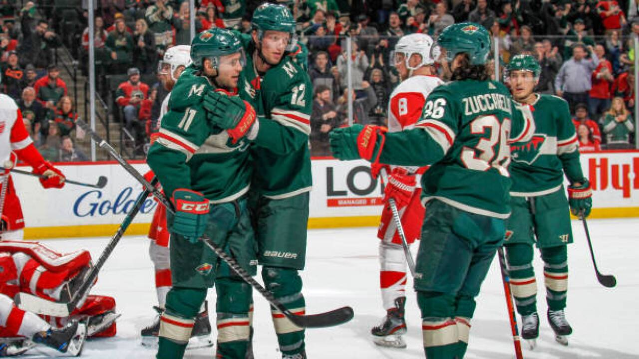 Wild Send Red Wings Into All Star Break With Sixth Straight Loss