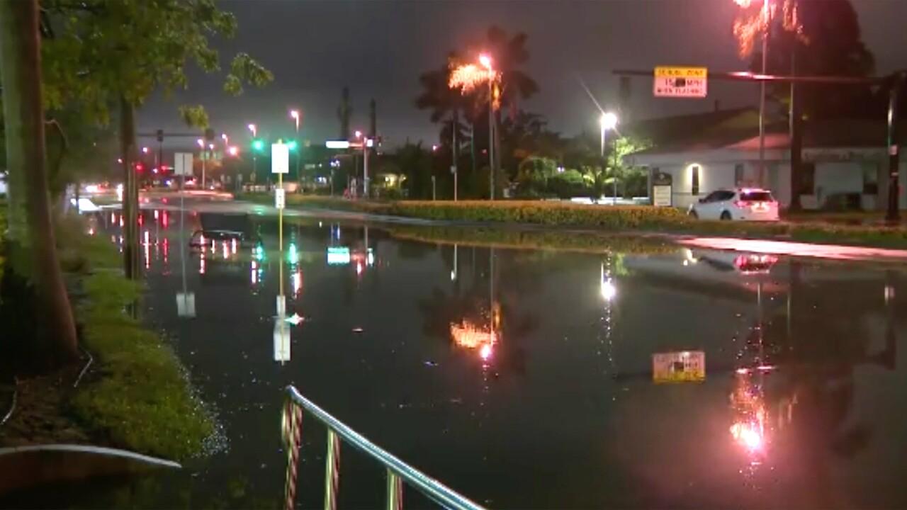 Flooding in Dania Beach, Florida, on Dec. 23, 2019.