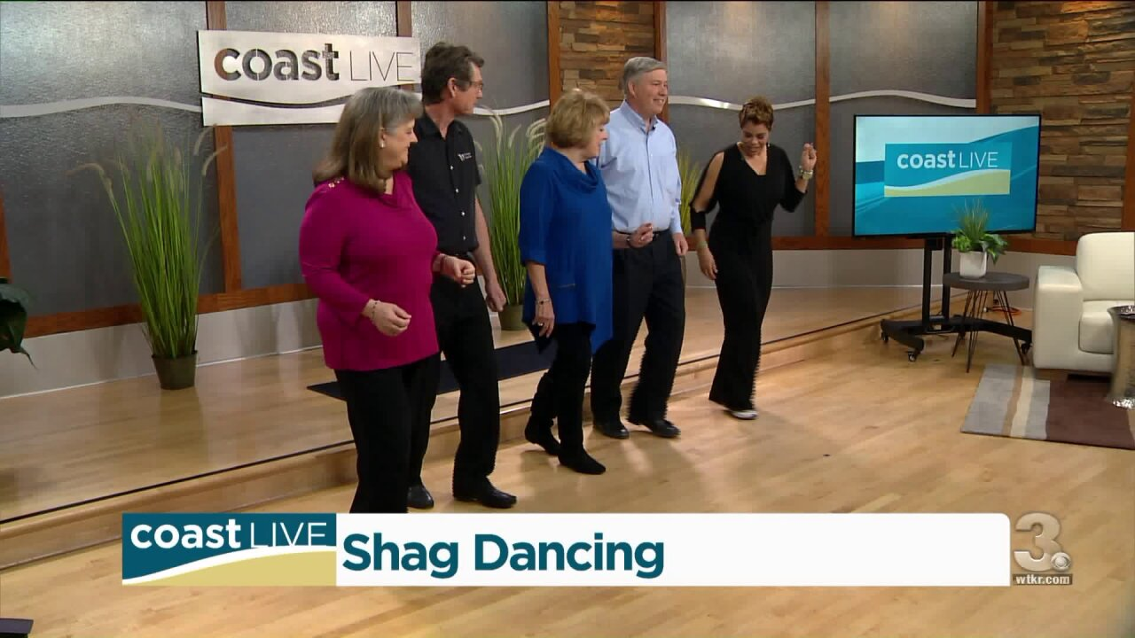 We get some lessons and a demonstration from the Virginia Beach Shag Club on CoastLive