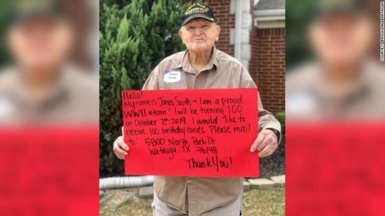 This WWII veteran wants 100 birthday cards for his 100th birthday