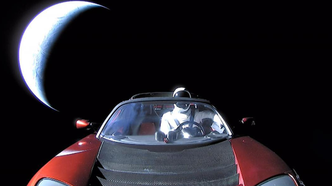 Elon Musk shares final photo of Tesla Roadster, Starman headed to asteroid belt