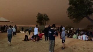 Wildfires in Australia have trapped 4,000 people on a beach with no way in or out