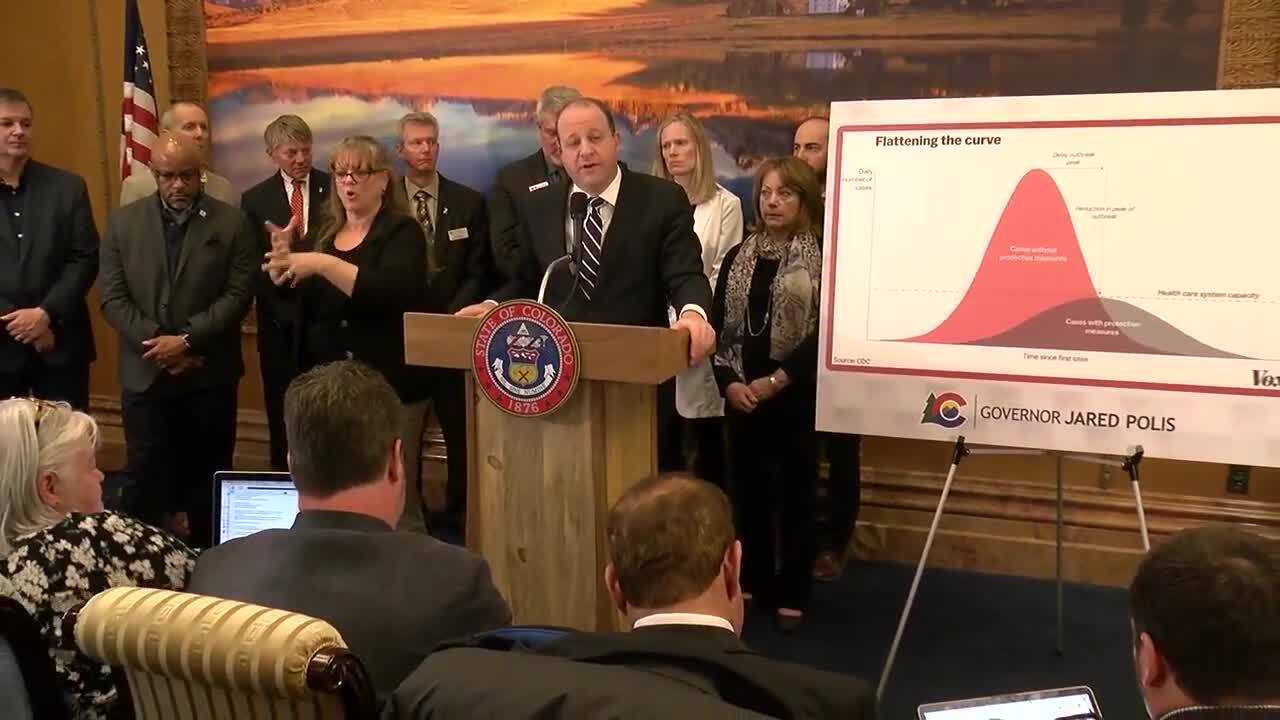 jared polis coronavirus march 13 press conference