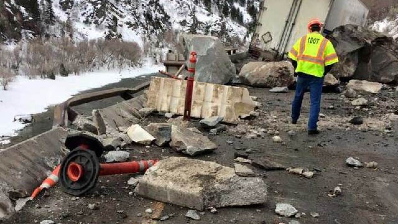 Rockfall work to temporarily close I-70 in western Colorado