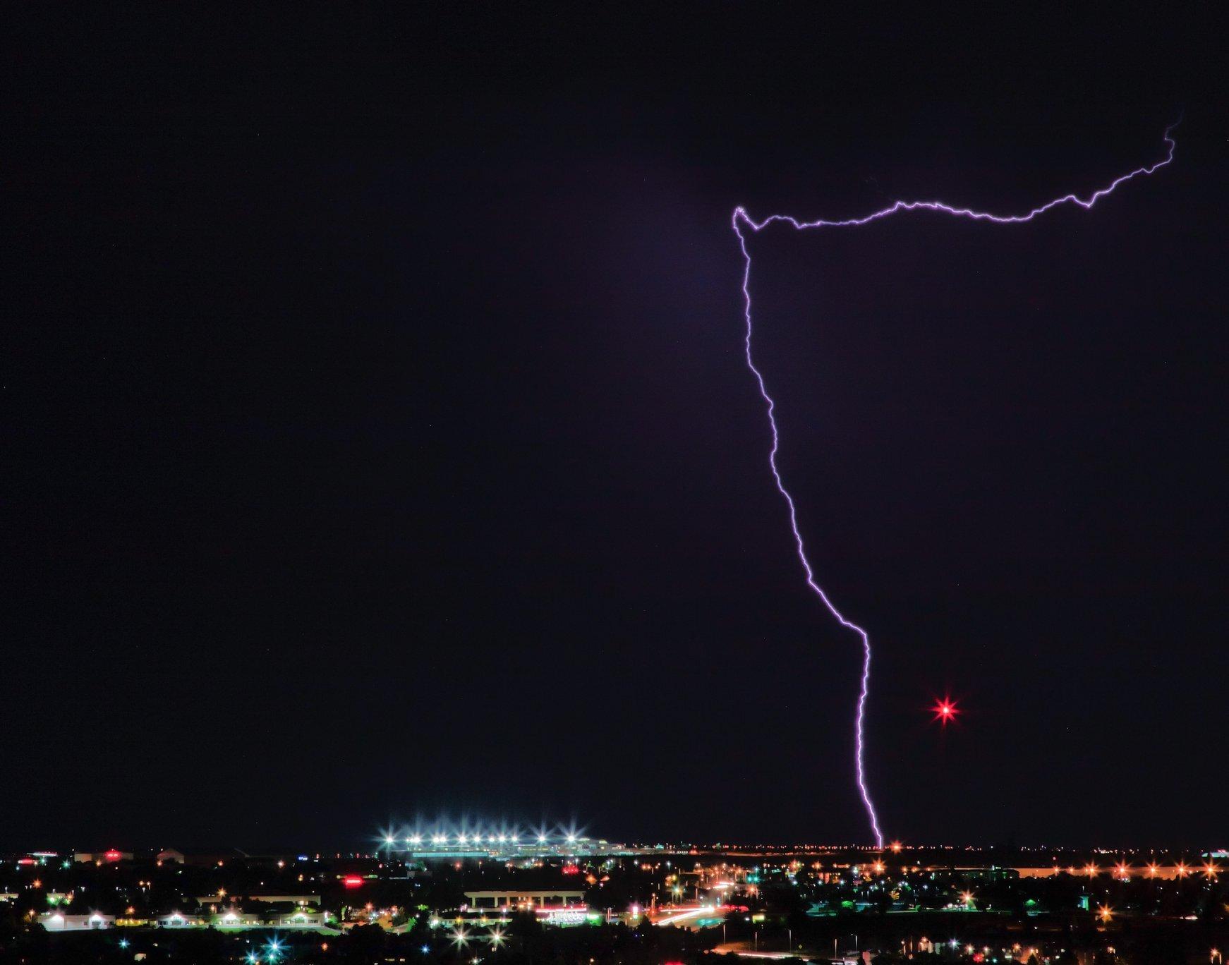 Lightning over Colorado Springs