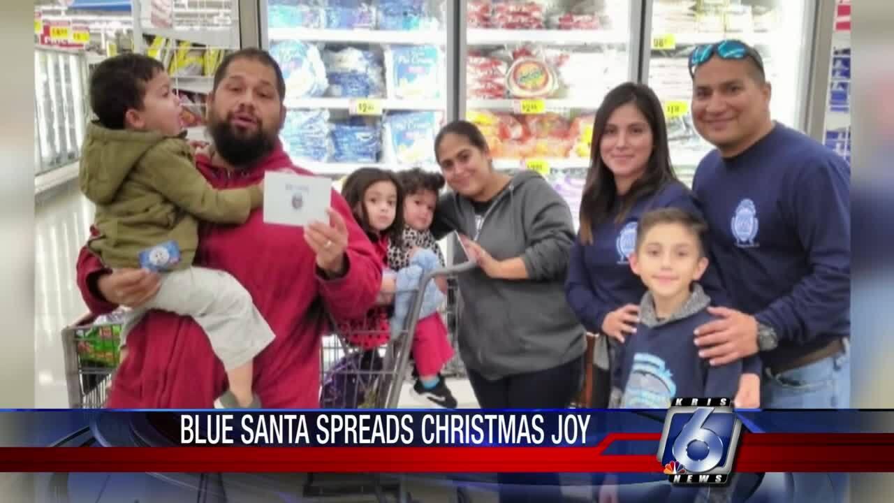 Blue Santa visits 60 area families