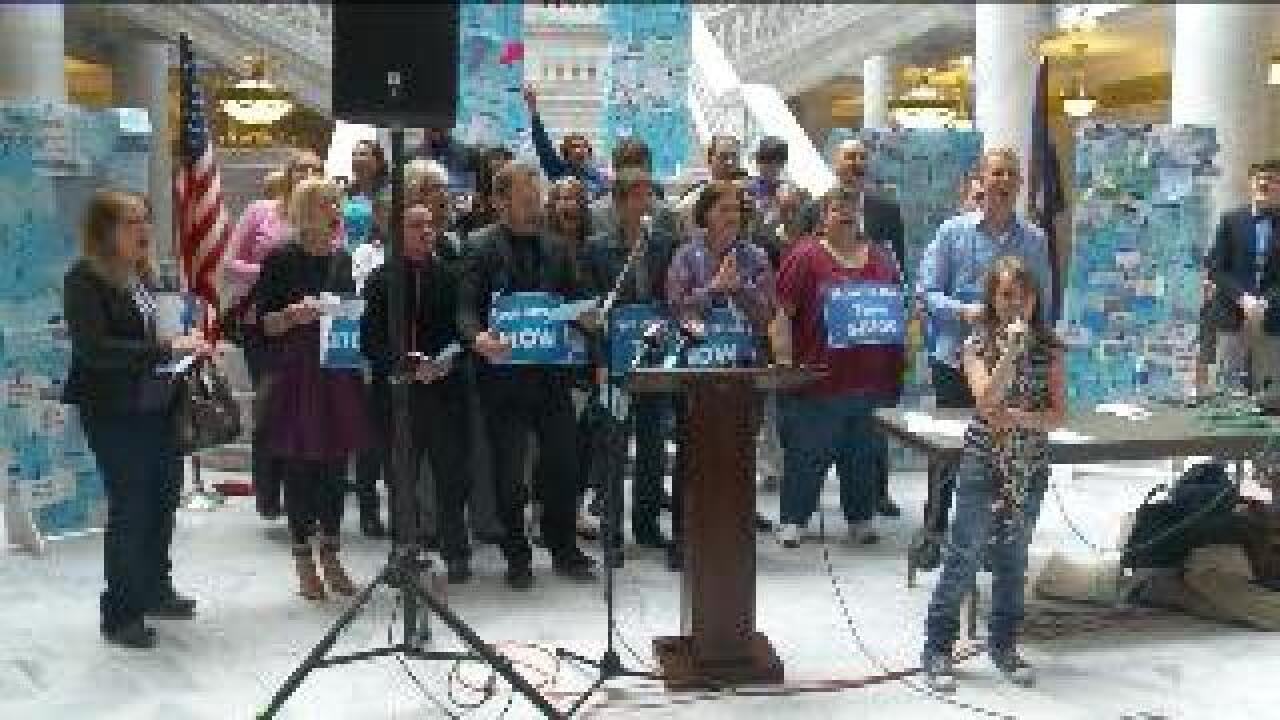 Rally held to urge Utah lawmakers to hear SB 100