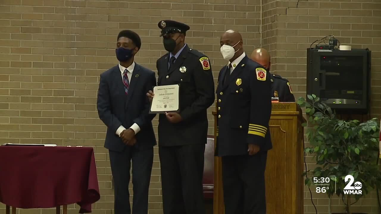 Baltimore City Fire Department holds graduation ceremony