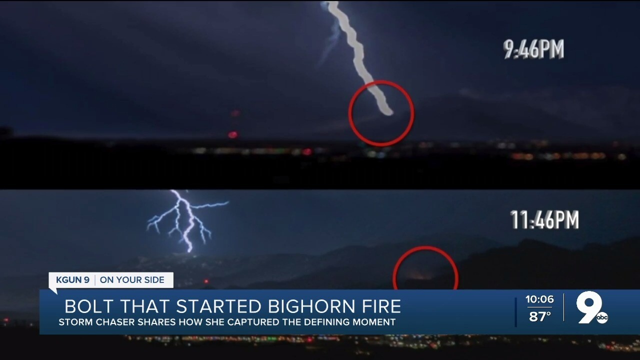Storm chaser captures bolt that started Bighorn fire