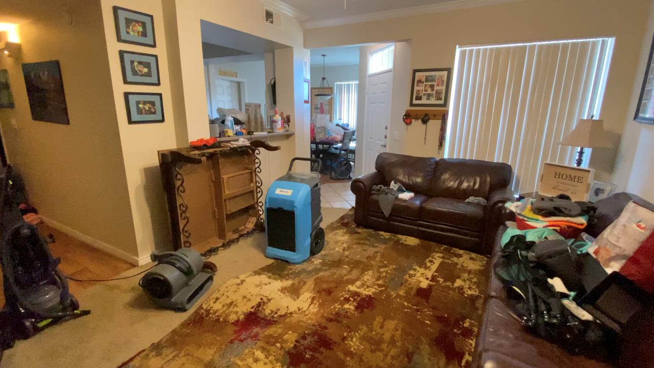 Parker apartment flooded