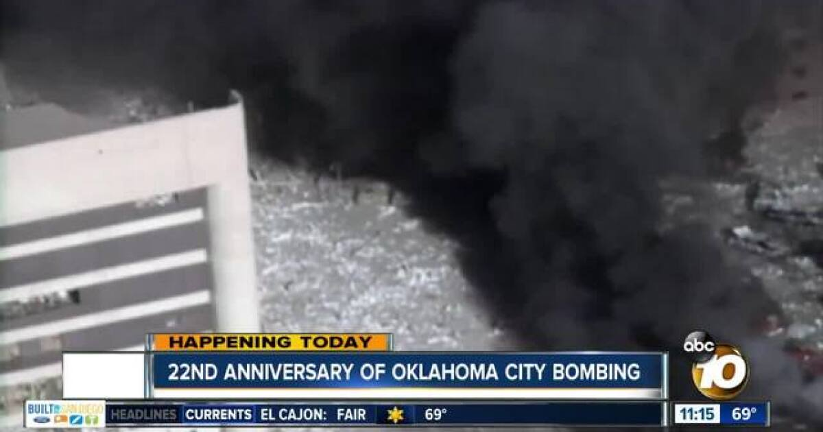 Oklahoma City bombing remembered 22 years later