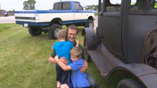 Dads celebrate Father's Day at Kewaunee car show